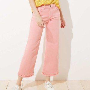 NWT Loft Wide Leg Pink Crop Jeans - Size 29